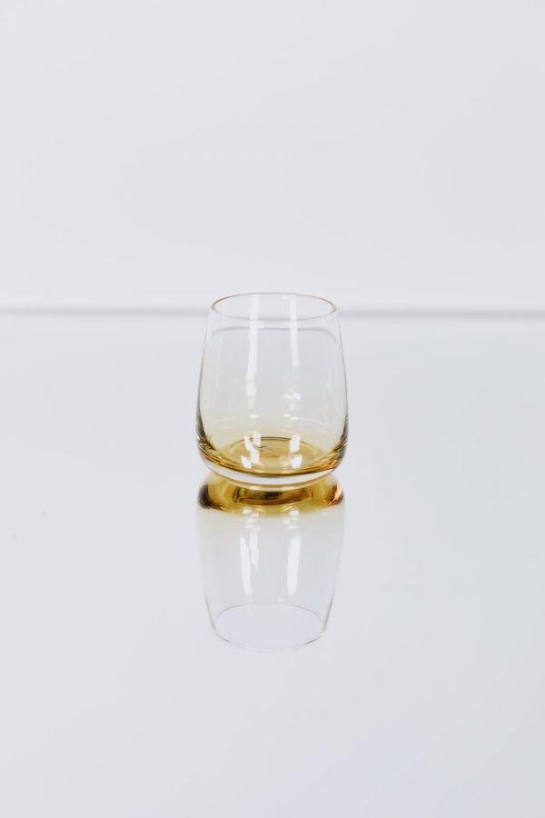 glassware amber tumbler
