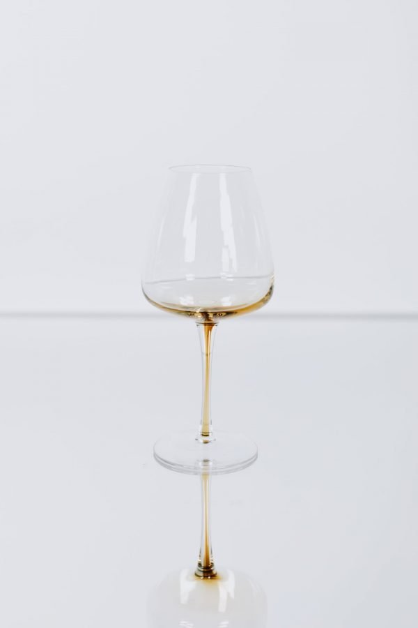 glassware amber wineglass