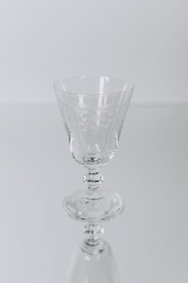 glassware etched glass