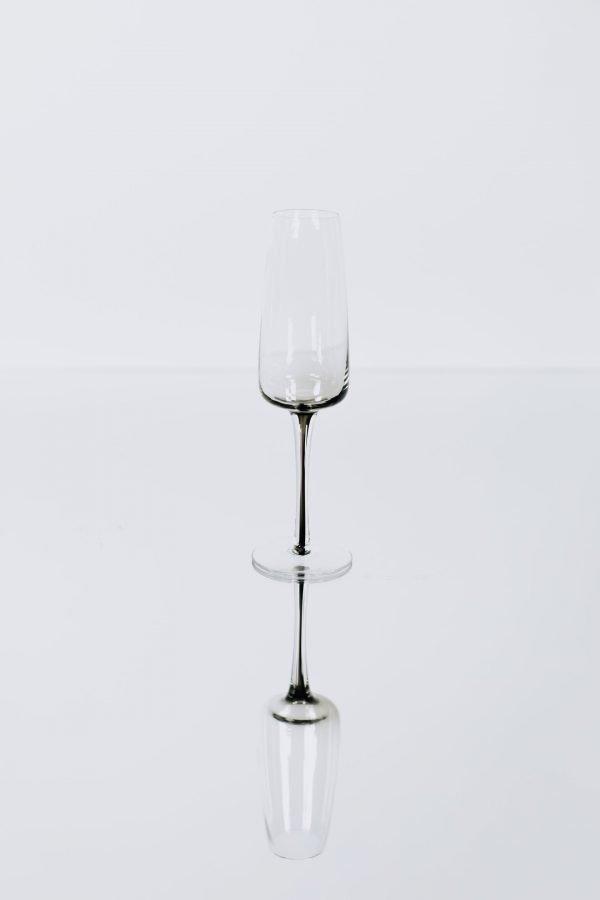 glassware grey champagne