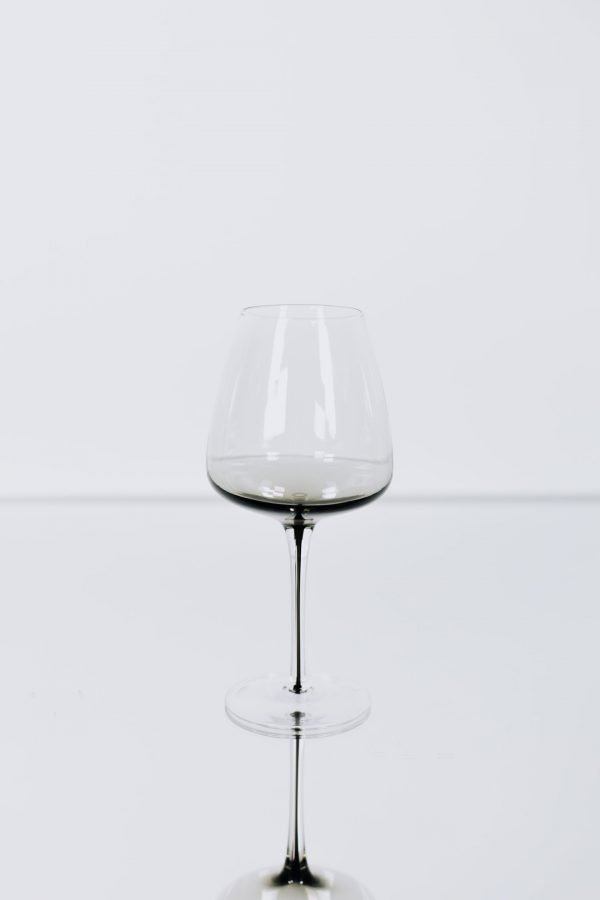 glassware grey wineglass