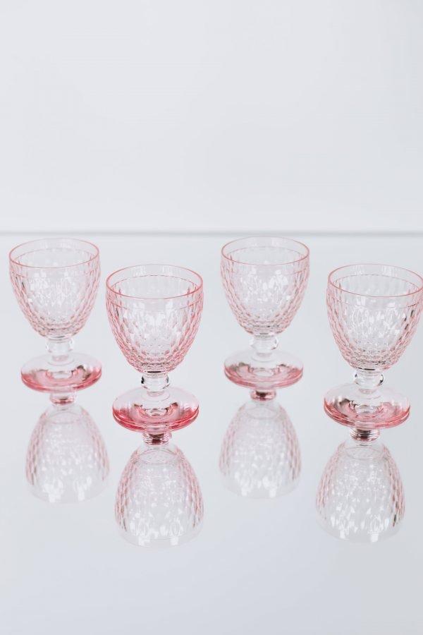 glassware villeroy pink